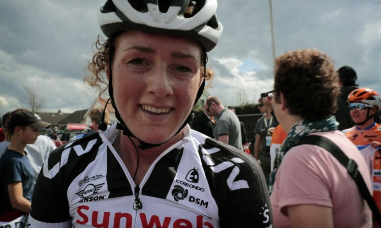 Valkenburg - Netherlands - wielrennen - cycling - cyclisme - radsport -  Floortje Mackaij (Netherlands / Sunweb) pictured during the 2nd Amstel Gold Race Ladies Edition (1.WWT) world tour a one day race for women between Maastricht and Valkenburg in the Netherlands - photo Davy Rietbergen/Cor Vos © 2018
